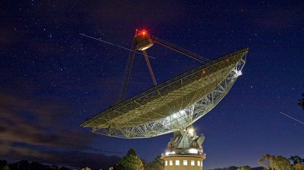 Is there anybody out there ... the CSIRO Parkes Radio Telescope captures radio signals from the far reaches of the universe.