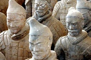 China, Xian.  Terracotta warriors