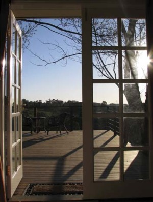 The vast deck with views.