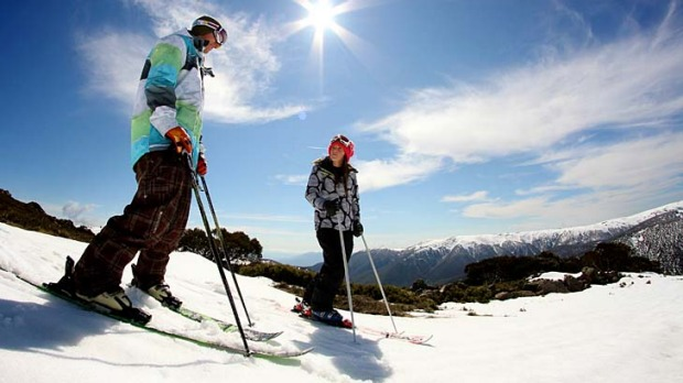 Spring has sprung ... the sun has been shining on the ski fields this August.