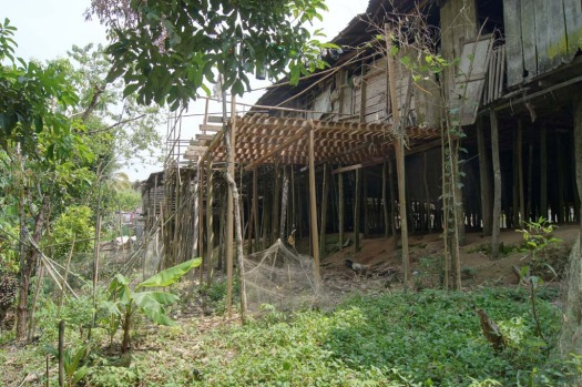 Many Iban still live a traditional lifestyle in longhouses like this one.