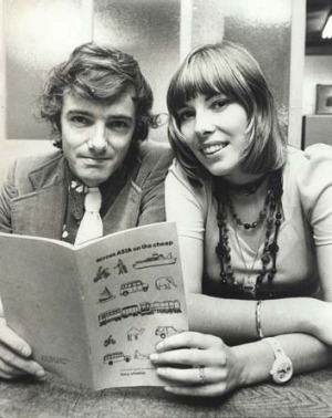 Tony and Maureen Wheeler with their original guide in 1973.