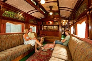 On the go ... the Edwardian carriage is a highlight of the Seymour Railway Heritage Centre.