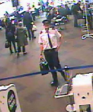 Police want to identify this man who was dressed as a pilot at Auckland Airport on Saturday.