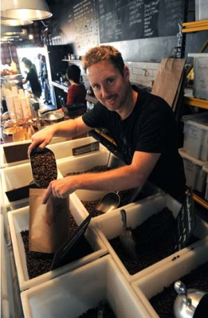 Bean to ACT ... Lonsdale Street Roasters owner Alistair Evans.