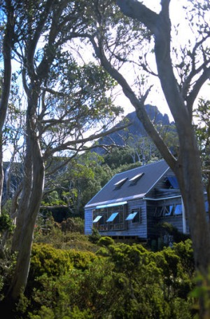 Cradle Mountain Huts are a welcome  sight at the end of a long day's hiking.