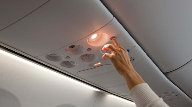 Overhead passenger controls have been redesigned.