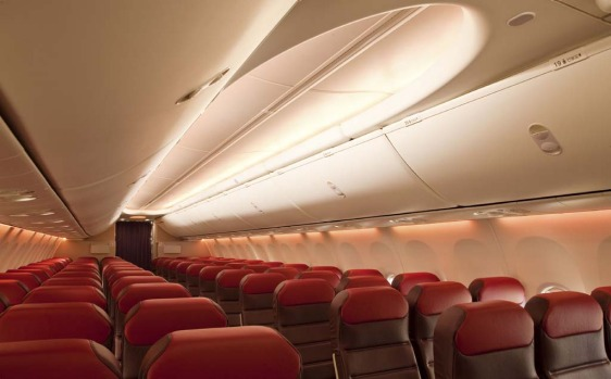 The lighting scheme will change during different phases of the flight.