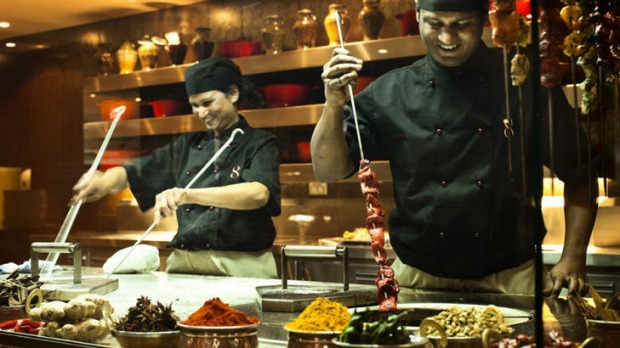 Food fun ... meals are prepared at Eight Restaurant.