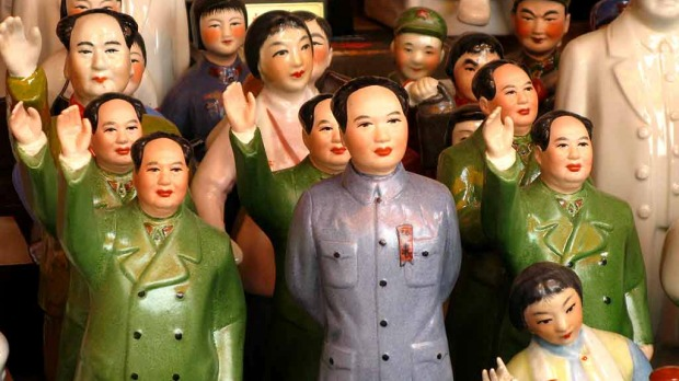 Mini Maos ... little statues of Mao Zedong sold along the Great Wall.