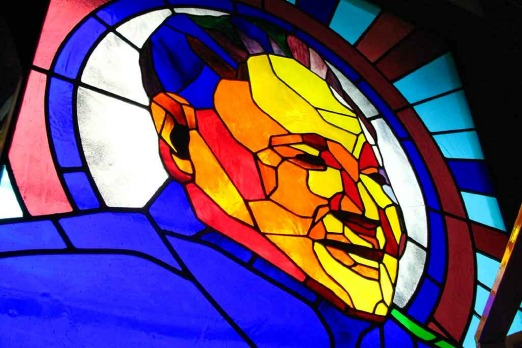 Mao ... even in stained glass.