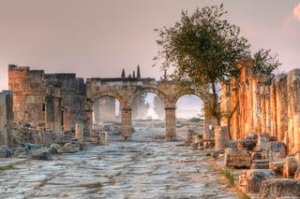 Ancient City Of Hierapolis, Turkey.