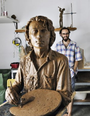 Creative haven ... sculptor Damien Lucas of Silvercloud Studios.