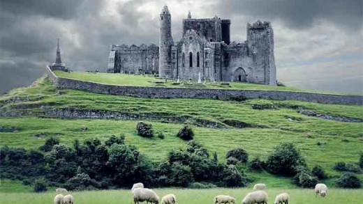 The nearby Rock of Cashel in South Tipperary.