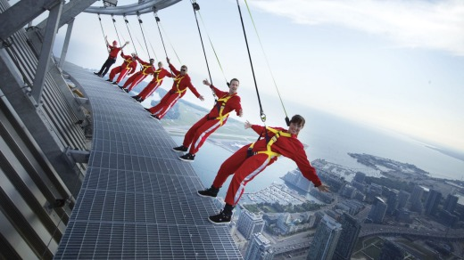 Feeling brave: Edgewalk Toronto is a test for those with a fear of heights.