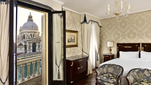 The Westin's terraced canal view rooms look out across to Venice's oldest church.