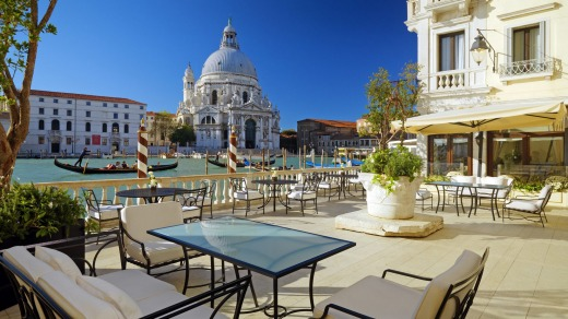 The hotel has Venice's largest private canal-side terraces.