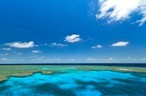 The Great Barrier Reef lies 30 kilometres from the coast of North Queensland.