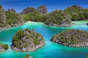 Explore by kayak: Raja Ampat islands, West Papua.