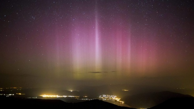 <b>NORTHERN LIGHTS AROUND THE WORLD</b> <p>The Northern Lights (Aurora borealis) are seen on the sky above ...
