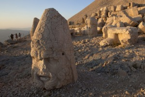The Western terrace ruins of Mount Nemrut.