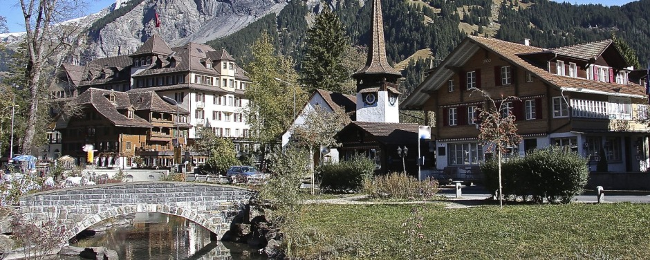 Kandersteg Village in the Bernese Highlands, Switzerland.