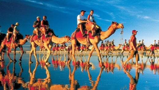 Who wouldn't love to ride the camels on  Cable Beach, Western Australia?