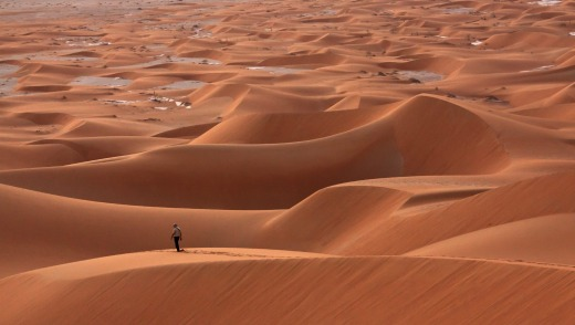 The sand dunes of Rub al Khali in Oman.