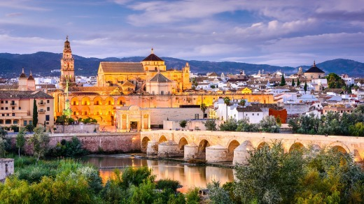 Old town skyline at the Mosque-Cathedral, Cordoba,