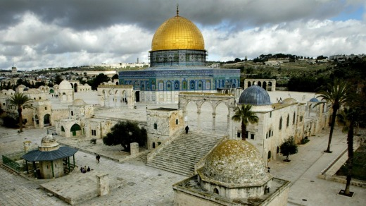 Haram as-Sharif or Temple Mount, is seen in Jerusalem's Old City.