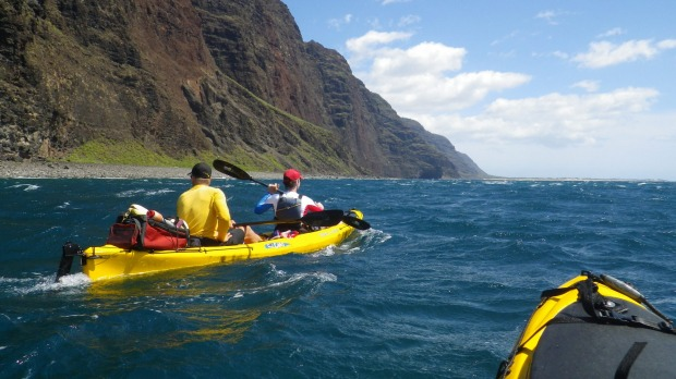 The Na Pali Coast, Hawaii: The 27-kilometre paddle along the rugged and roadless Na Pali coast on the island of Kauai ...