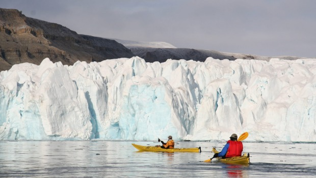 The Arctic, Canada: Sea kayaking takes expedition cruising in the Arctic to a whole new level. Nothing beats seeing a ...