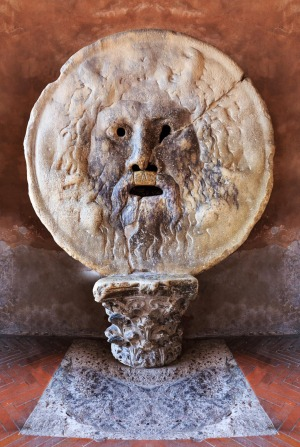 Mouth of Truth: It may have originally been a drain cover but, since medieval times, the circular stone face at Santa ...