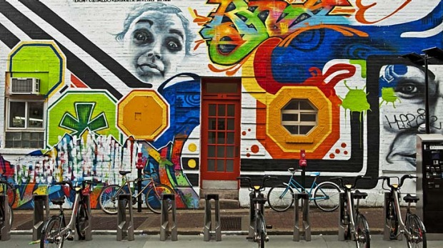 Stories of the street ... art in Montreal's Le Plateau-Mont-Royal.