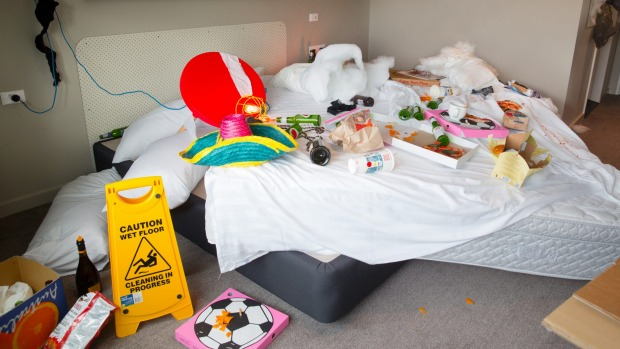 Do not leave your hotel room looking like this if you want an upgrade.
