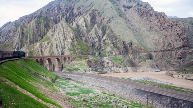 Bewildering scenery in Iran from the Trans-Asian Express: none of your friends have seen this yet.