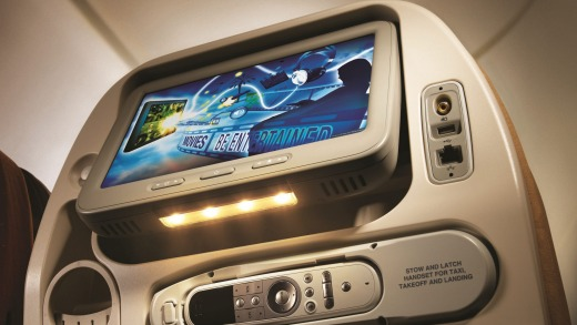 Singapore Airline's ntertainment system.