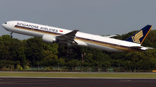 Singapore Airlines rates well on seat comfort and service.