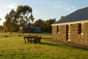 The Mount Sturgeon cottages sit at the end of the Grampians mountain range.