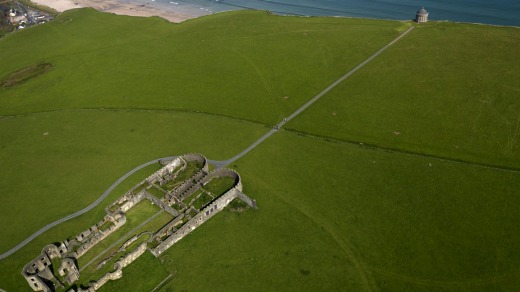 Mussenden Temple and Downhill House, County Londonderry: Both built in the late 18th century.