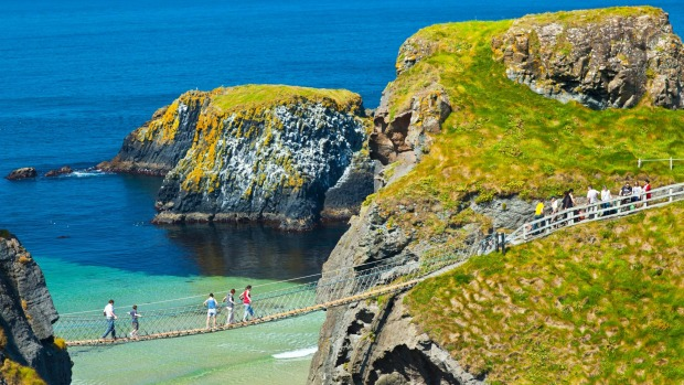 Carrick-A-Rede Rope Bridge, Larrybane: What salmon fishermen traditionally used to check their nets.