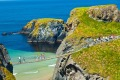 At Carrick-a-Rede you can test your bravery by walking across a short rope bridge to the small island used as a launch ...