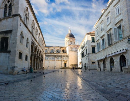The Cathedral-Treasury in Dubrovnik, Croatia.