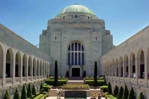 The Commemorative Courtyard at the Australian War Memorial is a serene place for contemplation.
