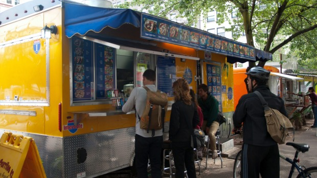 Food trucks in Portland.