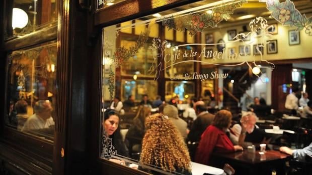 A cafe in the historical neighbourhood of Buenos Aires.