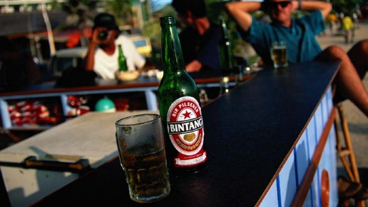 Drink of choice ... Bintang beer.
