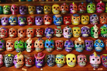 Souvenirs line the walls at Hernandez Gallery in downtown Tulum, Mexico.