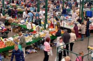 Bustling: St George's Market in Belfast should be your first stop for a coffee and spectacular fry-up.