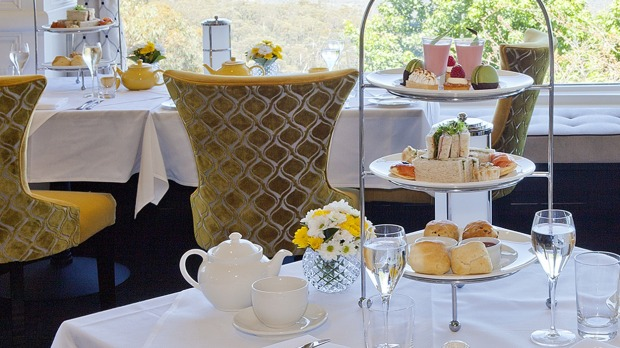High tea is served in the Wintergarden at the Hydro Majestic.